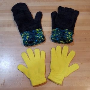 Convertible chenille glove mittens + free gloves